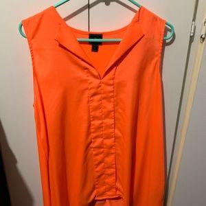 Orange Worthington Blouse